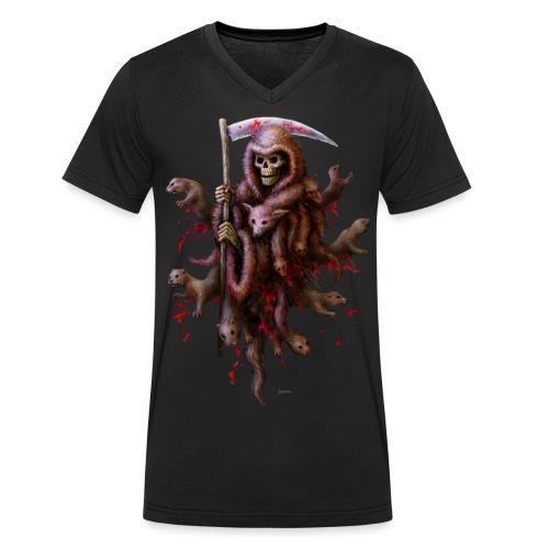 Death loves Fur - Männer Bio-T-Shirt mit V-Ausschnitt von Stanley & Stella