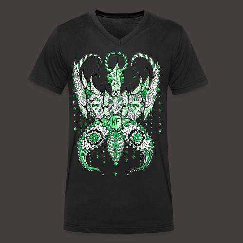 Papillon Lilou Vert - T-shirt bio col V Stanley & Stella Homme