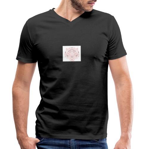 Tiger fra jungle - Økologisk Stanley & Stella T-shirt med V-udskæring til herrer