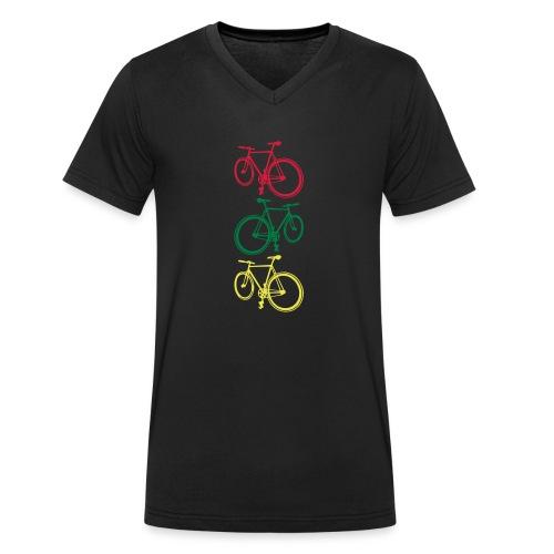 Fixie - Männer Bio-T-Shirt mit V-Ausschnitt von Stanley & Stella