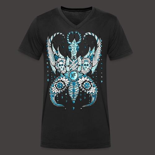 Papillon Lilou Turquoise - T-shirt bio col V Stanley & Stella Homme