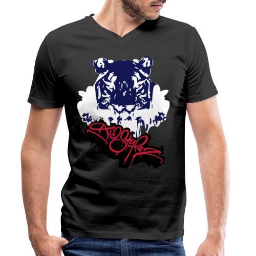Tiger Style - Männer Bio-T-Shirt mit V-Ausschnitt von Stanley & Stella