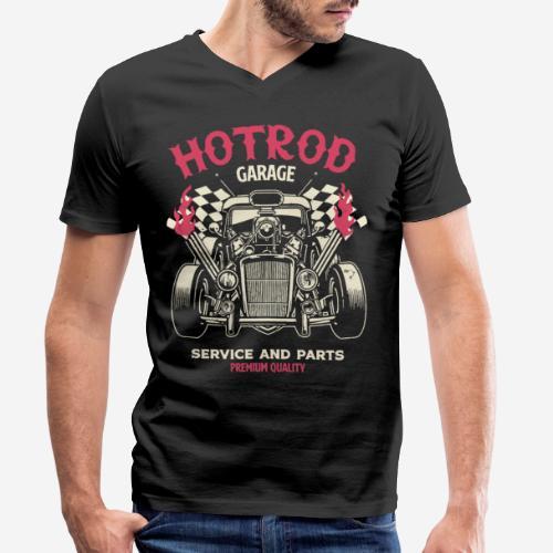 hotrod vintage cars - Männer Bio-T-Shirt mit V-Ausschnitt von Stanley & Stella