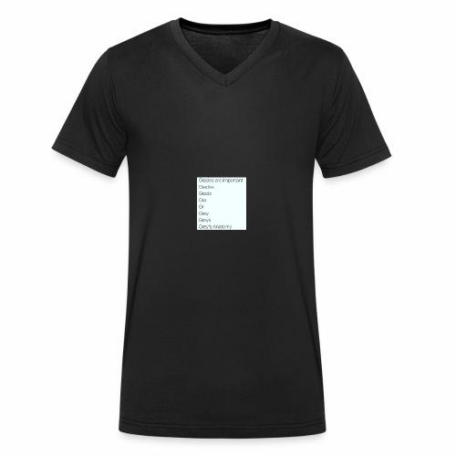 greys anatomy life - Men's Organic V-Neck T-Shirt by Stanley & Stella