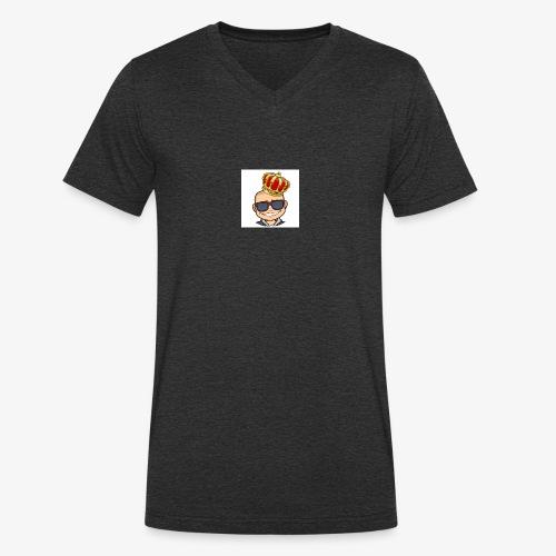 My king - Ekologisk T-shirt med V-ringning herr från Stanley & Stella