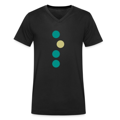 dotline - Männer Bio-T-Shirt mit V-Ausschnitt von Stanley & Stella