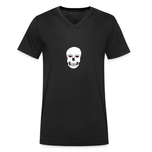Schädel Skulls Augen Eyes Death Tod Horror Tattoo - Männer Bio-T-Shirt mit V-Ausschnitt von Stanley & Stella