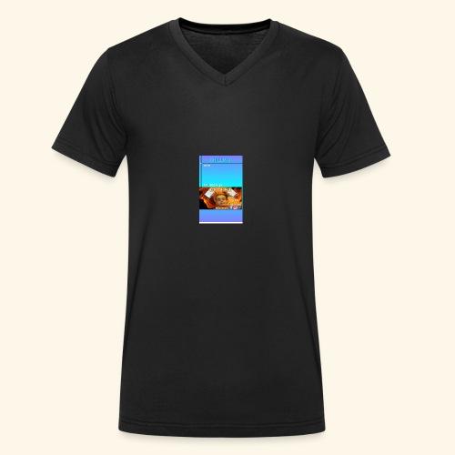 chilling with frileedake1 - Men's Organic V-Neck T-Shirt by Stanley & Stella