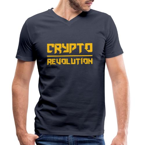 Crypto Revolution III - Men's Organic V-Neck T-Shirt by Stanley & Stella