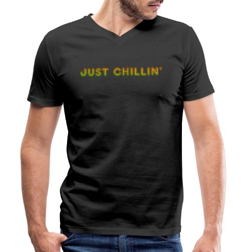 Just Chillin - Men's Organic V-Neck T-Shirt by Stanley & Stella