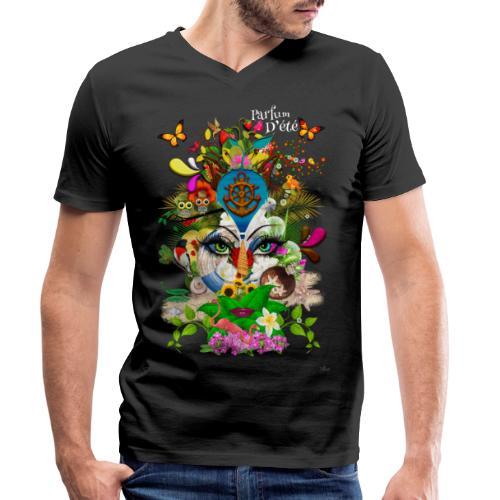 Parfum d'été by T-shirt chic et choc (tissu foncé) - T-shirt bio col V Stanley & Stella Homme