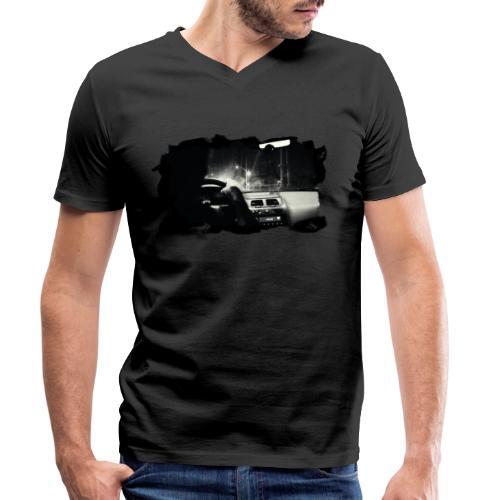 PS-001 Driving at Night (Wht PS logo on back) - Økologisk Stanley & Stella T-shirt med V-udskæring til herrer