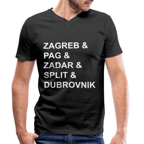 Zagreb & - Men's Organic V-Neck T-Shirt by Stanley & Stella