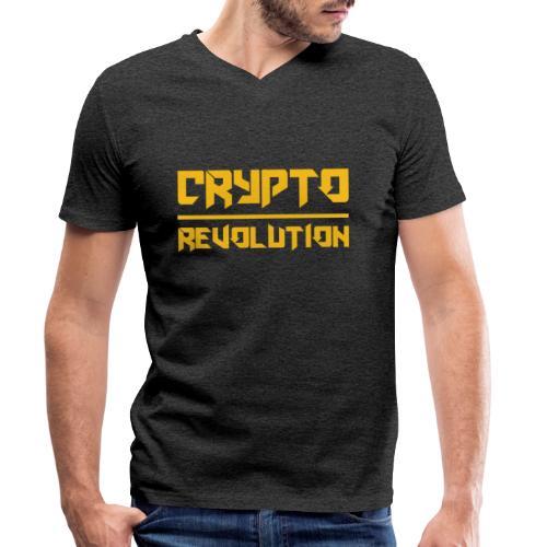 Crypto Revolution III - Men's Organic V-Neck T-Shirt by Stanley & Stella