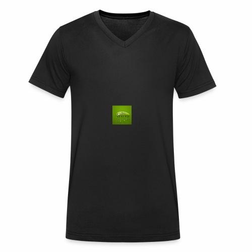 Raksos Logo - Økologisk Stanley & Stella T-shirt med V-udskæring til herrer