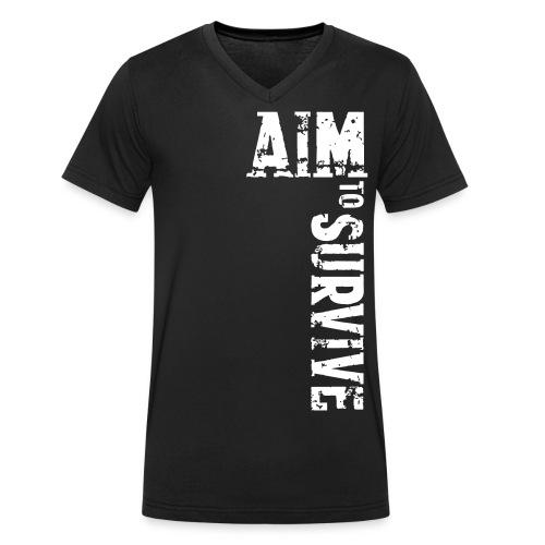 AIM TO SURVIVE - Männer Bio-T-Shirt mit V-Ausschnitt von Stanley & Stella