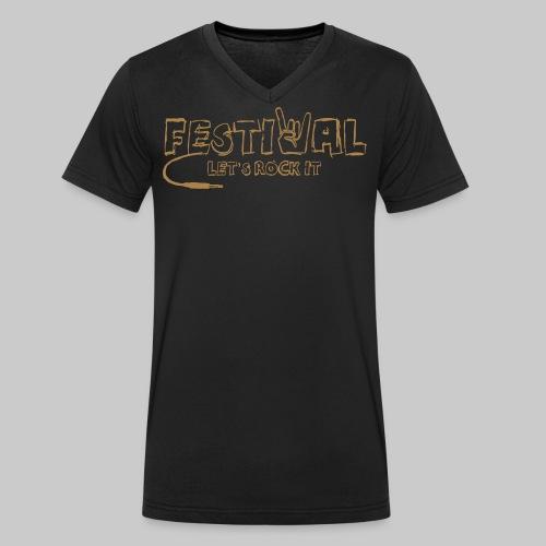 Festival, Let's Rock It - Männer Bio-T-Shirt mit V-Ausschnitt von Stanley & Stella
