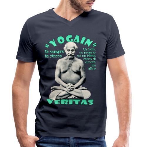 YogaIn Veritas - T-shirt ecologica da uomo con scollo a V di Stanley & Stella