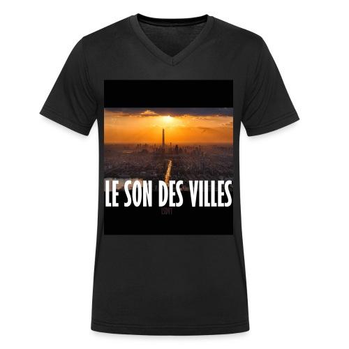 Le Son Des Villes : By night - T-shirt bio col V Stanley & Stella Homme