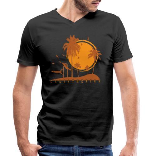 Calisthenics Training Fitness menschliche Flagge - Männer Bio-T-Shirt mit V-Ausschnitt von Stanley & Stella