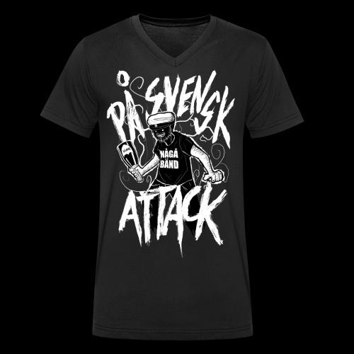 På Svenska Tack - Men's Organic V-Neck T-Shirt by Stanley & Stella