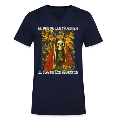 El Dia De Los Muertos Skeleton Design - Men's Organic V-Neck T-Shirt by Stanley & Stella