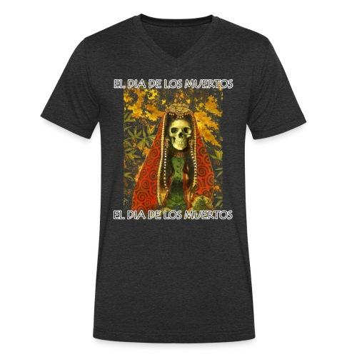 El Dia De Los Muertos Skeleton Design - Men's Organic V-Neck T-Shirt by Stanley & Stella