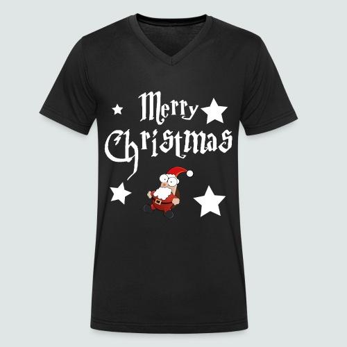 Merry Christmas - Ugly Christmas Sweater - Männer Bio-T-Shirt mit V-Ausschnitt von Stanley & Stella