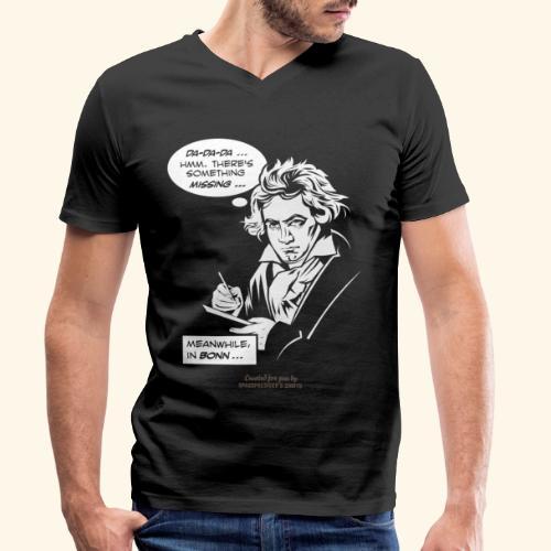 Beethoven T-Shirt Comic Fünfte Symphonie Beethoven - Männer Bio-T-Shirt mit V-Ausschnitt von Stanley & Stella