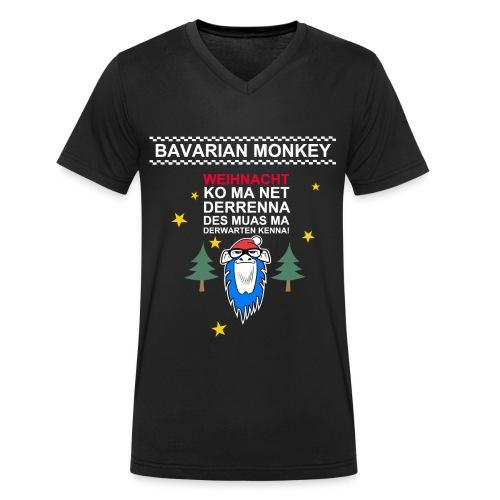 Bavarian Monkey derwarten kenna - Männer Bio-T-Shirt mit V-Ausschnitt von Stanley & Stella