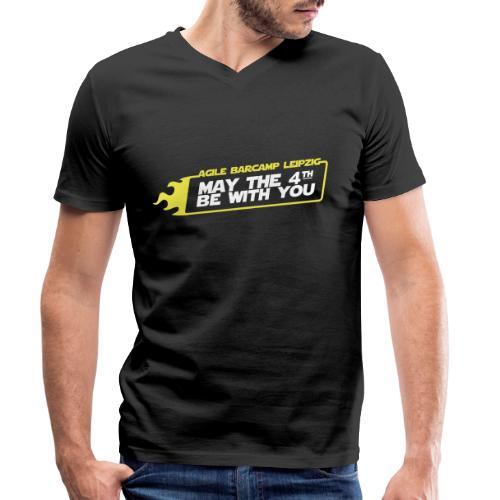 agiLE Leipzig | may the 4th be with you - Männer Bio-T-Shirt mit V-Ausschnitt von Stanley & Stella