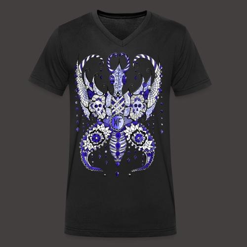 Papillon Lilou Bleu - T-shirt bio col V Stanley & Stella Homme