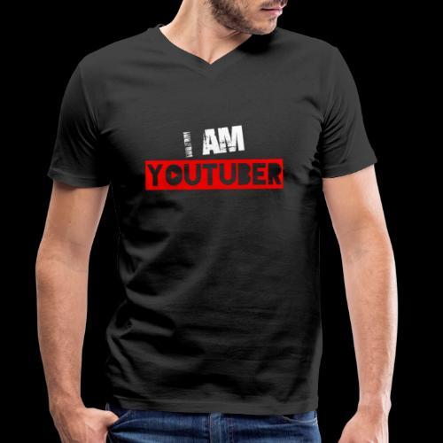 I am Youtuber - Männer Bio-T-Shirt mit V-Ausschnitt von Stanley & Stella
