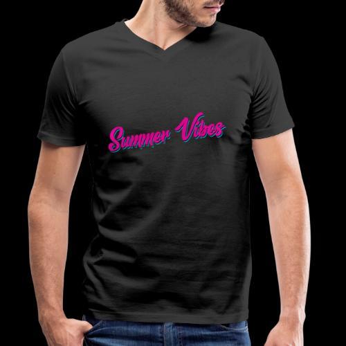 Summer Vibes - Männer Bio-T-Shirt mit V-Ausschnitt von Stanley & Stella