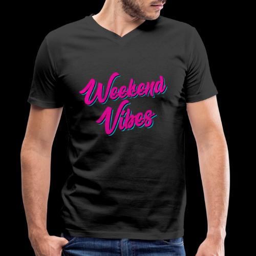 Weekend Vibes - Männer Bio-T-Shirt mit V-Ausschnitt von Stanley & Stella