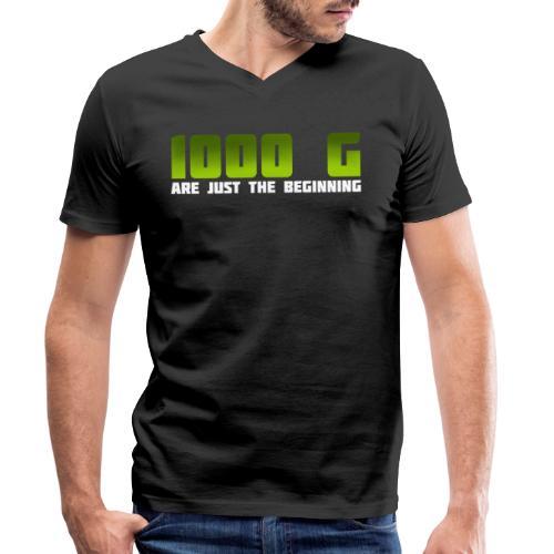 1000 G are just the beginning - Männer Bio-T-Shirt mit V-Ausschnitt von Stanley & Stella