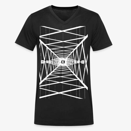 Hochmast Weiß - Männer Bio-T-Shirt mit V-Ausschnitt von Stanley & Stella