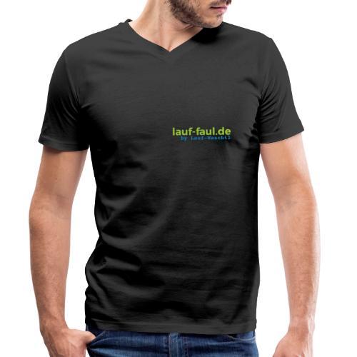 lauf-faul.de - beidseitig - Männer Bio-T-Shirt mit V-Ausschnitt von Stanley & Stella