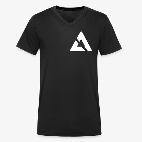 Witte Driehoek Logo - Mannen bio T-shirt met V-hals van Stanley & Stella