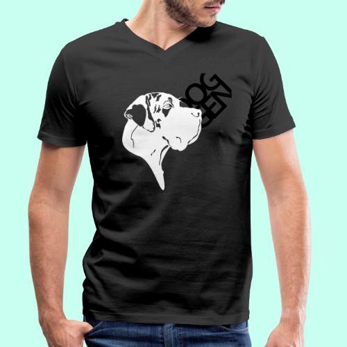 Gefleckter Doggenkopf komplex - Männer Bio-T-Shirt mit V-Ausschnitt von Stanley & Stella