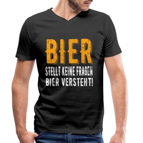 Bier stellt keine Fragen Bier verteht Vintage - Männer Bio-T-Shirt mit V-Ausschnitt von Stanley & Stella