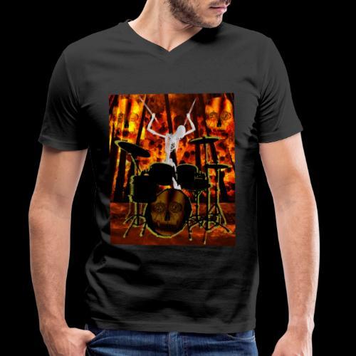 LE SQUELETTE BATTEUR - T-shirt bio col V Stanley & Stella Homme