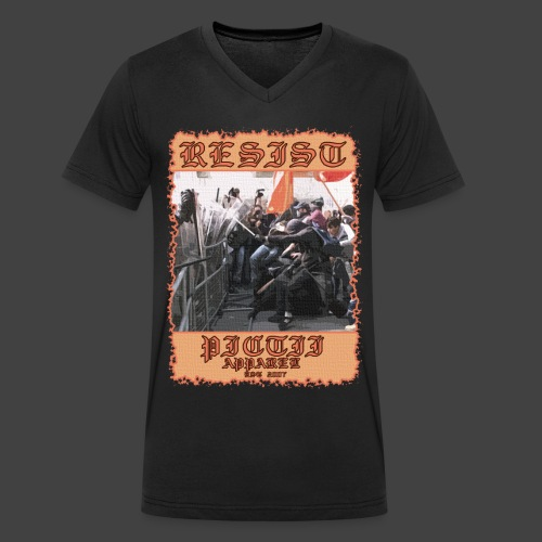 PICTRESIST8 - COL1 - Men's Organic V-Neck T-Shirt by Stanley & Stella
