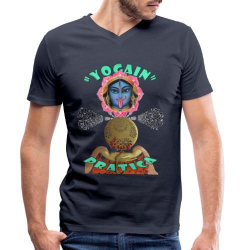 YogaIn Pratica - T-shirt ecologica da uomo con scollo a V di Stanley & Stella