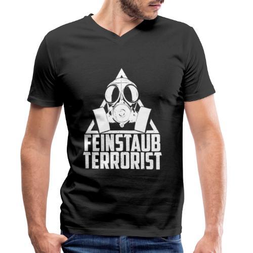 Diesel Fahrverbote Feinstaub Terrorist - Männer Bio-T-Shirt mit V-Ausschnitt von Stanley & Stella