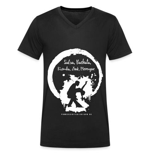 Salsa, Bachata, Kizomba - Männer Bio-T-Shirt mit V-Ausschnitt von Stanley & Stella
