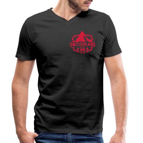 Swiss Mountain _ Colorful - Männer Bio-T-Shirt mit V-Ausschnitt von Stanley & Stella
