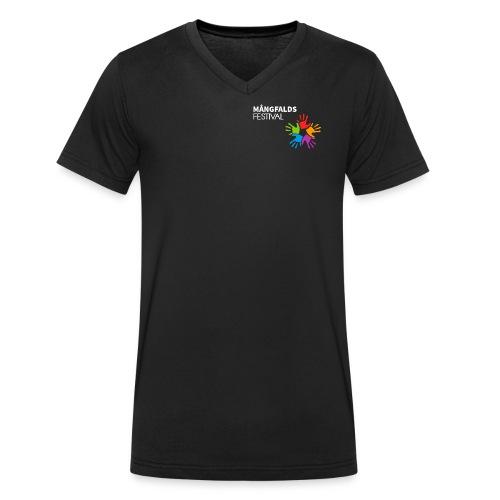 Mångfaldsfestival - Ekologisk T-shirt med V-ringning herr från Stanley & Stella