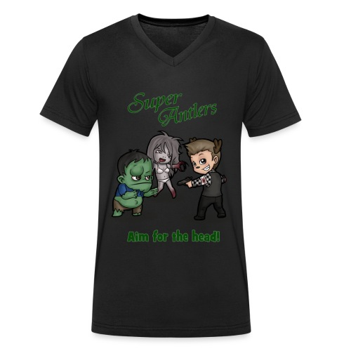SuperAntlers Zombie Slayer - Men's Organic V-Neck T-Shirt by Stanley & Stella
