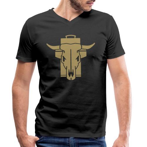 GRILL BADGE v45G - Männer Bio-T-Shirt mit V-Ausschnitt von Stanley & Stella